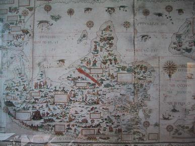 Pierre Desceliers 1550 world map