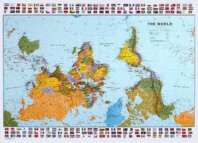 The upsidedown map page francis irving upsidedown world map gumiabroncs Choice Image