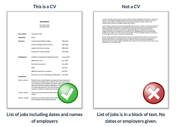 This Is A CV  What A Resume Should Look Resume