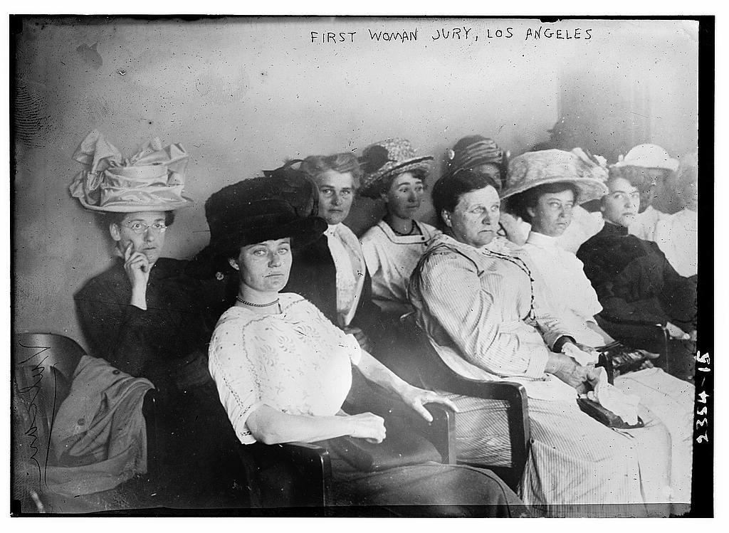 First woman jury, Los Angeles